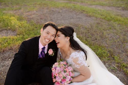 * Oli and his beautiful bride, JM (photo from JM's FB)