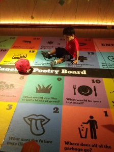 Baby J on the Poetry Board at The Mind Museum.