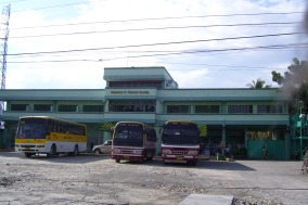 "The Shamrock building a.k.a. bus stop. This is where we buy our ""otap,"" one of Cebu's top pasalubong products."