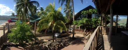 panorama shot of the place from the lounge deck