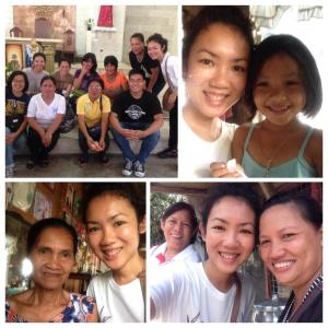 took selfies with my groupmates, partner Ate Vangie, her daughter Jenella, and her mother